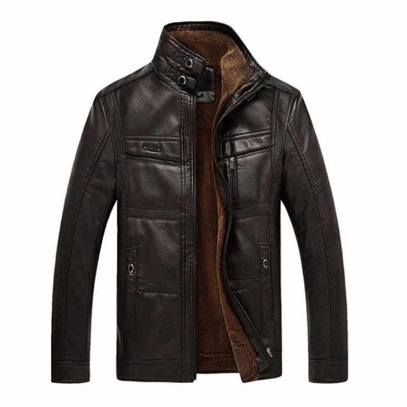 Кожаная куртка для горного спорта, мужские пальто, 3XL, брендовая Высококачественная верхняя одежда из искусственной кожи, мужская деловая зимняя куртка из искусственного меха, Мужская Флисовая Куртка