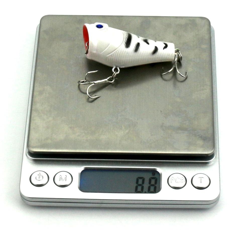 4Pcs Popper žvejybos įrankis 5cm 8g Lifelike Hard Lure - Žvejyba - Nuotrauka 6
