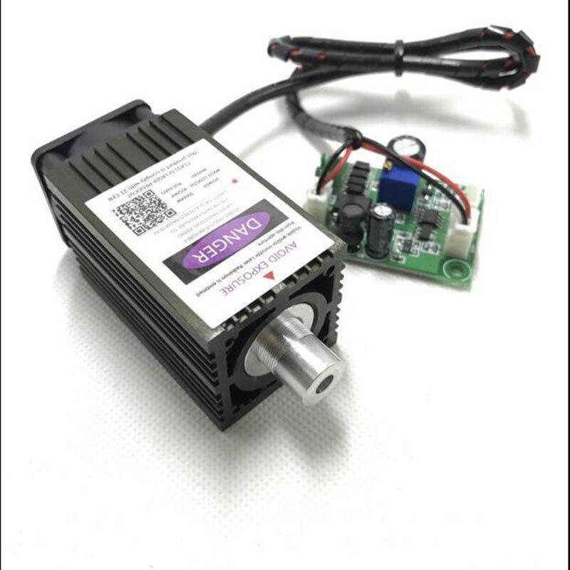 DIY 500mW 405nm High-power laser engraving Laser module Blue violet light цена