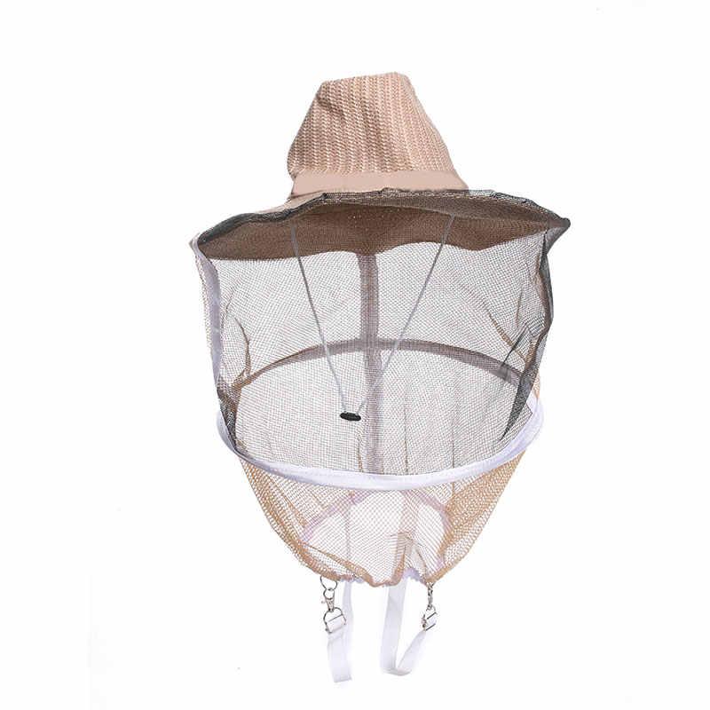Arıcılık Şapka Arıcı kovboy şapkası Sivrisinek Arı Net Peçe Tam Yüz Boyun Kapak Açık Böcek Örgü Maskesi Kafa koruyucu bone