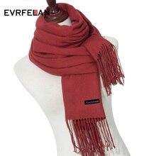 190 см* 70 см высококачественные кашемировые шарфы с кисточкой сплошной цвет женский зимний шарф женские теплые модные женские шарфы