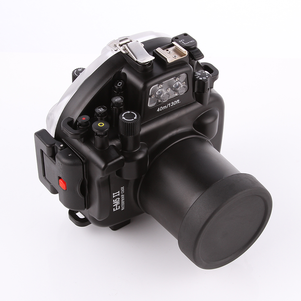 40m Waterproof Diving Underwater Housing Case For Olympus OMD E-M5 EM5 II Camera