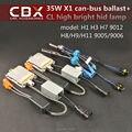 35 W HID Xenon Lastro com Canbus função X1 Rápido Brilhante + CBX Alta Brilhante Lâmpada Xenon 5500 K para Farol de Substituição 2 pçs/lote