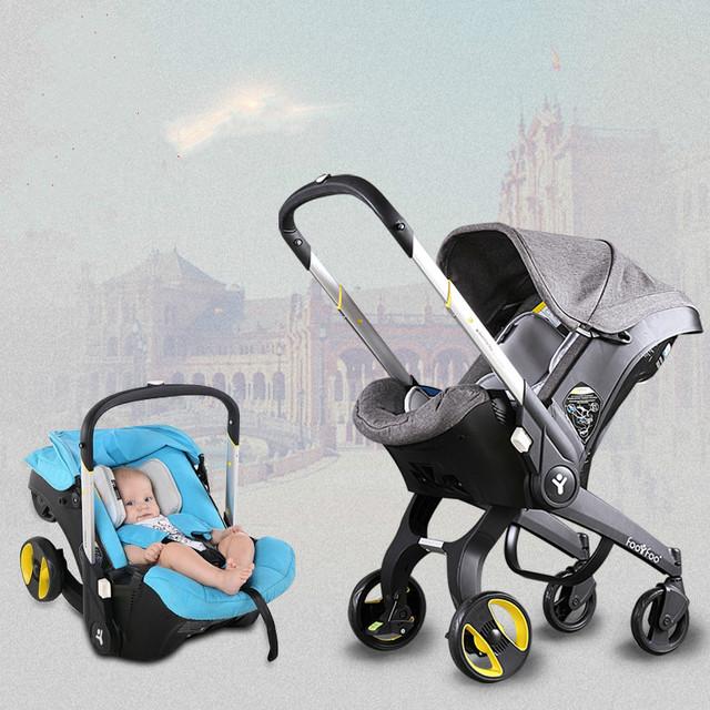 Multifuncional portátil cesta carrinho de bebê carrinho de bebê do assento de carro da criança recém 0-2 anos de idade