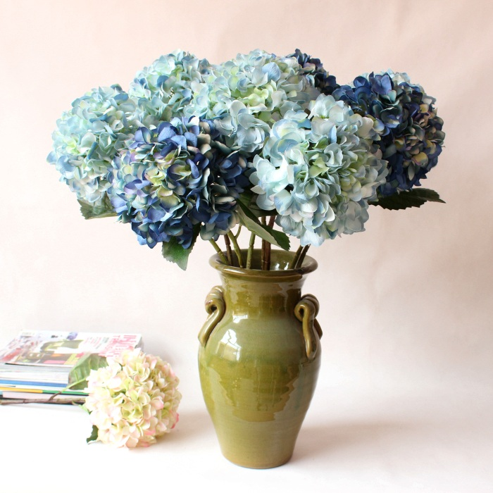 Top quality artificial hydrangea faux silk flowerwedding party top quality artificial hydrangea faux silk flowerwedding party christmas home decoration flowers arrangement free shipping in artificial dried flowers mightylinksfo