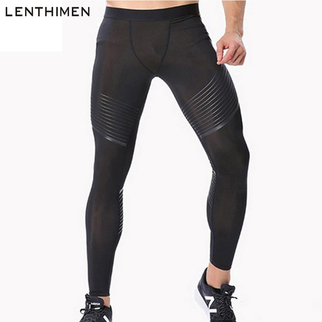 e2269a506c Men's Compression Pants Running Basketball Sport Tights Men Gym Joggers  Bodybuilding Pants Elastic Trousers Fitness Leggings MMA