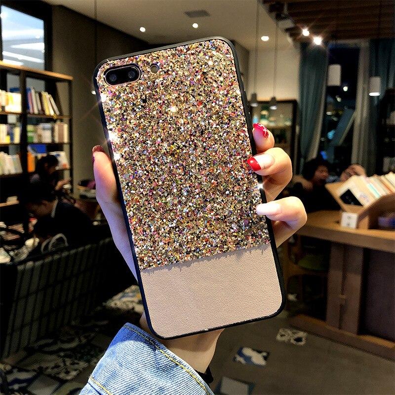 Luxury Bling Case For iphone 8 Plus 6s iphone X 10 Glitter Fundas 6plus 7plus Coque Cover For iphone 7 Plus iphone 6 s Plus Case