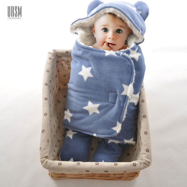 Baby Sleeping Bag Cotton Warm Swaddle Wraps Soft Comfortable Envelopes Baby Bag Newborns Blanket  For 0-12 Month Leg Divided