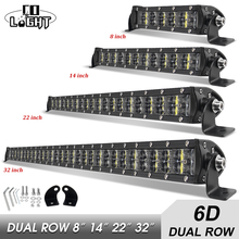 CO LIGHT projecteur de travail Combo 120 pour conduite de bateau tout terrain, 4WD, 4x4, camion SUV ATV, 8, 14, 22, 32 pouces, 6D 36W, 72W, 180W, LED W
