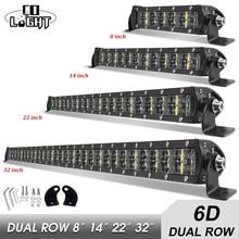 Co Licht 8 14 22 32 Inch 6D 36W 72W 120W 180W Led Verlichting Combo led Bar Licht Voor Rijden Offroad Boot 4WD 4X4 Truck Suv Atv
