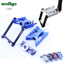 Wellgo C193 Aluminum CNC machined Anodized City Bike Pedals heavy duty cnc machined hard anodized aluminum slipper pressure plate and hub for traxxas x maxx