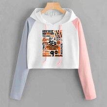 Kpop Sf9 Hoodie Crop Top Women Printing Pullover Hoodies Spr
