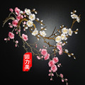 2pcs Plum Blossom Flower Applique Clothing Embroidery Patch Fabric Sticker Iron On Patch Craft Sewing Repair Embroidered