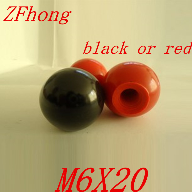 10pcs M6 x 25mm black or red Ball Knob 6mm Thread 25mm Ball Diameter Bakelite Black Ball Lever Knob for Machine Tools 10pcs black beige 16mm x 6mm 0 9 digits bcd or decimal code pushwheel thumbwheel switches km2 ksa 3 or end plates blank spacers