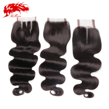 Brazilian Body Wave Lace Closure Free Part, Middle Part Or 3 Ways Part Ali Queen Hair Virgin Brazilian Body Wave Lace Closure