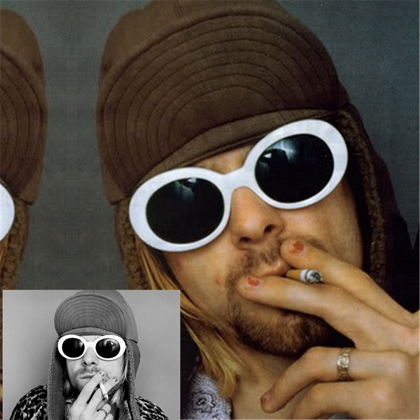 Sun Glasses Women's Glasses UV400 Mirrored NIRVANA Kurt Cobain Sunglasses Women Men Fahion Female Male