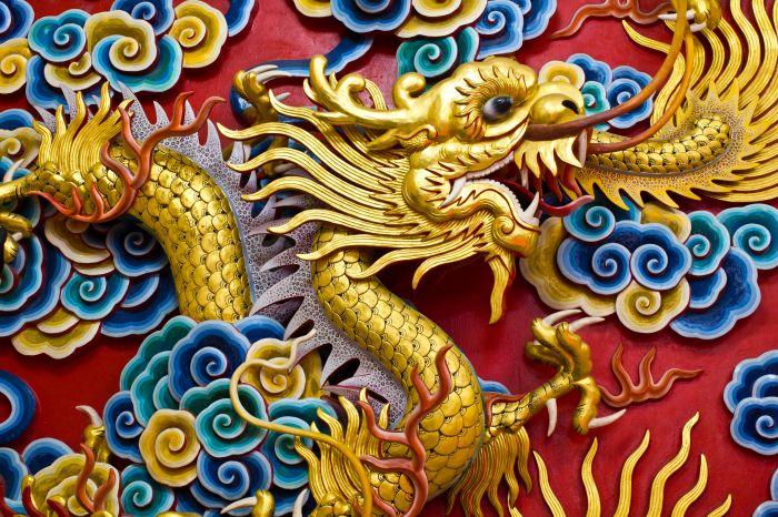 Beautiful Asian Dragon Wall Decor Ensign - Wall Art Collections ...