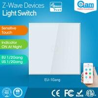 Z Wave Sensor Smart Home EU Version One Gang Z Wave Wall Light Switch Sensor 1