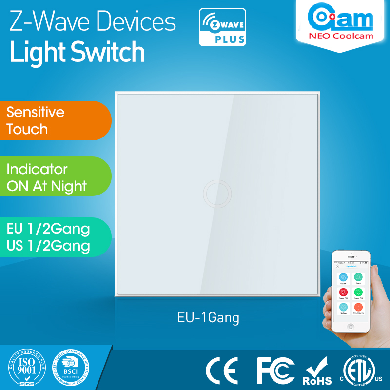 Z wave Sensor Home EU Version One Gang z-wave Wall Light Switch 1CH Wireless Smart Remote Control dai shi han