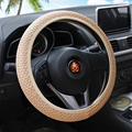 New Universal sport Skidproof steering-wheel Anti-slip Handmade braid Ice silk Fabrics Auto car steering wheel cover accessories
