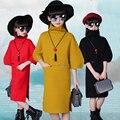 100 ~ 150 cm meninas adolescentes roupas importadas-roupas camisola de gola alta crianças elegante vestido de inverno vestido de camisola