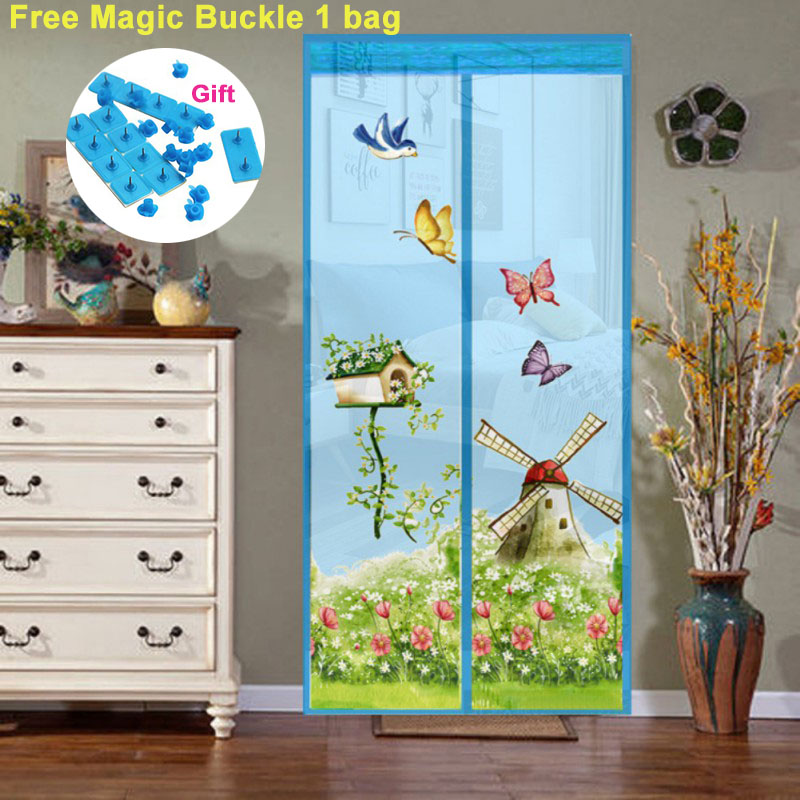 4 Colors Magnetic Curtains Mosquito Net on the Door Window Mesh with Magnets Insect Screen 1