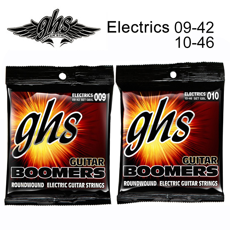 GHS Strings Electric Guitar Boomer Set Extra Light Nickel Steel 09-42 / Light 10-46