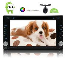 Android 6.0 Car Stereo 2 Din Bluetooth Radio Support GPS Navigation 3G/4G/Wifi USB Mirrorlink Backup Camera Aux Radio Video DVD