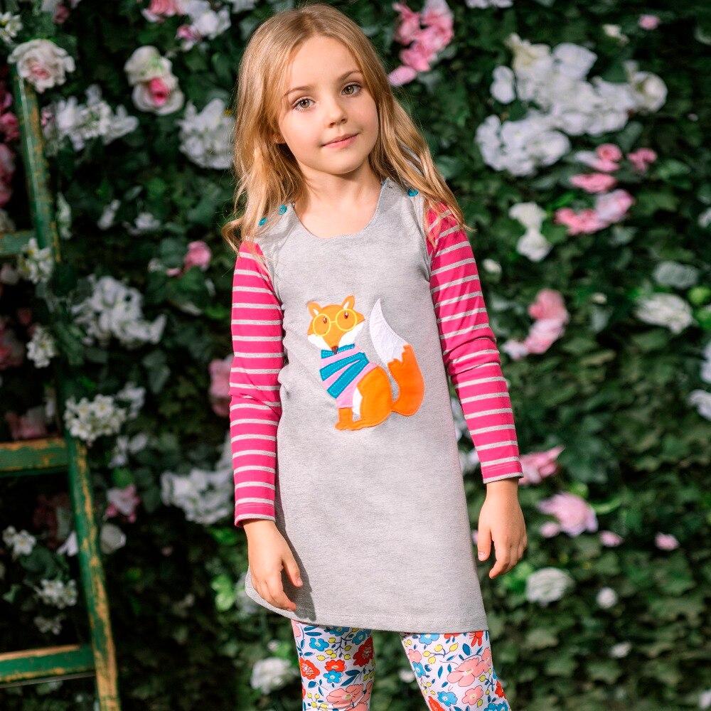 Костюм принцессы Детское платье для дня рождения для девочек 2017 бренд Туника платье Детская одежда аппликация халат Fille 100% хлопковые детски...