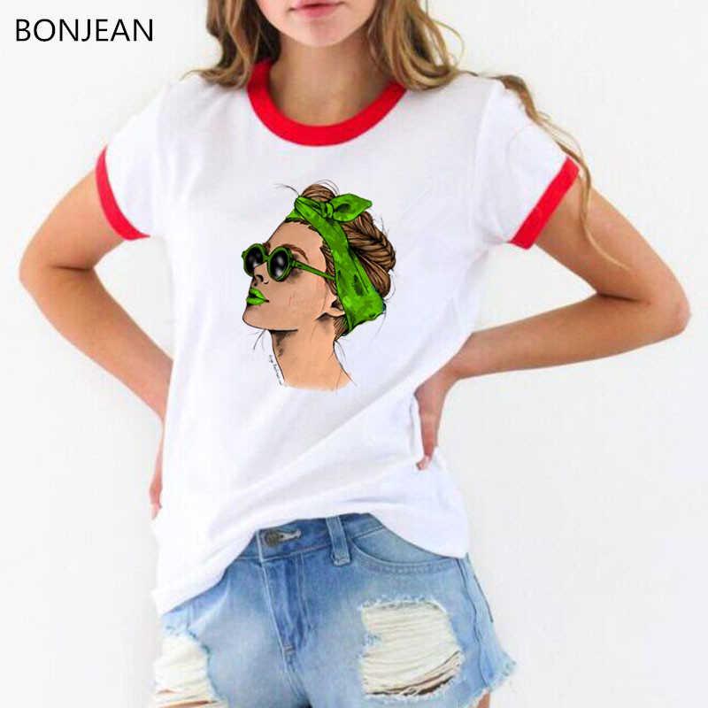 2019 di estate di modo top t-shirt donna di moda donna stampato magliette bianco top tee shirt femme più la camicia di formato femminile T-shirt