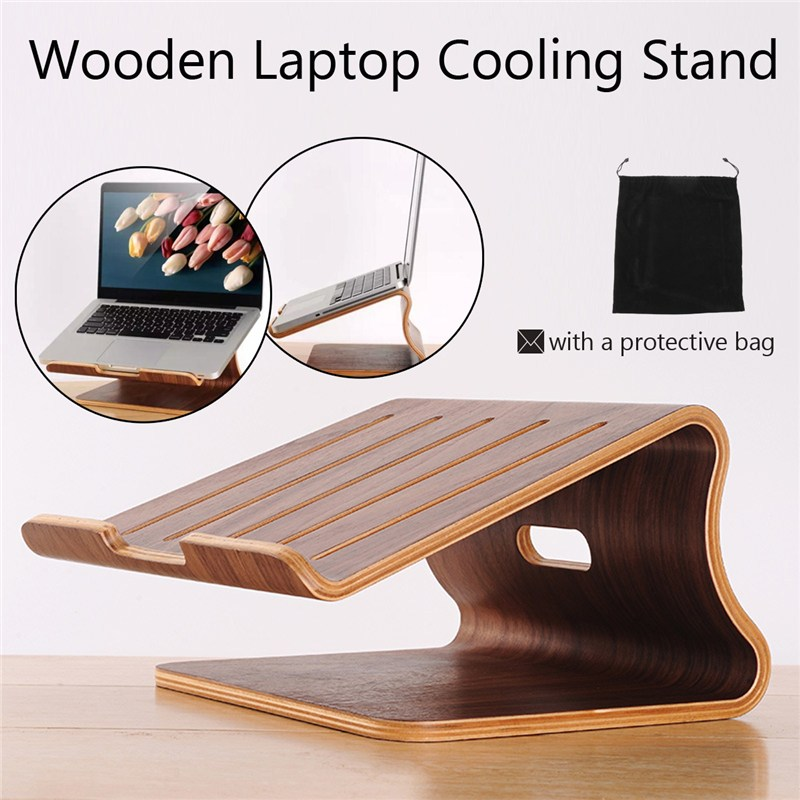 все цены на Computer Desks Wooden Laptop Cooling Holder Stand Radiator Dock Tray For MacBook Air Notebook Fome Furniture онлайн