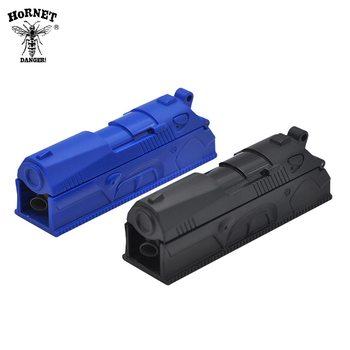 HORNET DANGER 1 Pza inyector de laminación de plástico Manual de un solo tubo de tabaco rodillo de cigarrillo máquina de inyector de laminación