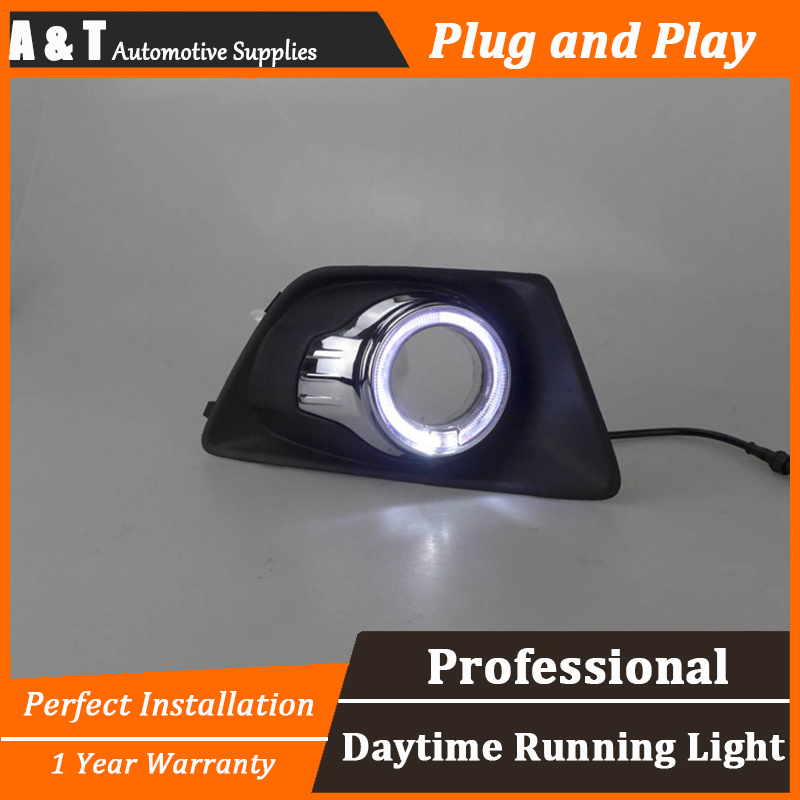 car styling For Ford Ecosport LED DRL For Ecosport High brightness guide LED DRL led fog lamps daytime running light A style car styling for honda vezel hrv led drl for vezel hrv led fog lamps daytime running light high brightness guide led drl