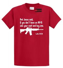Jesus AR15 Pro Gun Luke Bible 22 36 T Shirt Christian Funny Gun Rights Tee Shirt Free shipping Tops t-shirt Fashion цена