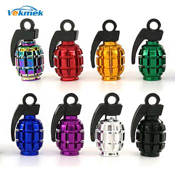 4 sztuk Grenad zawór opony czapki dla samochodów motocykl motor zawór aluminiowy nakładki dla amerykańskich zaworów samochodu-stylowe części akcesoria tanie i dobre opinie VEKMEK ACG1-3516 Aluminium