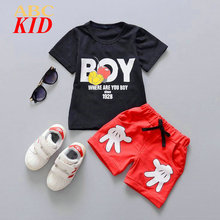 Boys Baby Clothing Sets Mickey Shirt + Shorts Infants Boy Shorts Tracksuits Tees T Shirts Sport Pants Camisa Infantil Menino