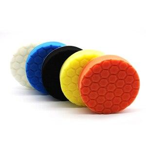 Image 4 - Tampons de polissage pour peinture de voiture, 5 x éponge, tampons de meulage, brosse propre, outils pour polisseuse de voiture 75 100 125 150 180mm avec tampon adhésif