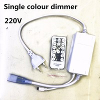Led Dimmer IR Remote Controller Lighting Dimmer Switch 8 12mm Width CCT Dimmer For AC 220v