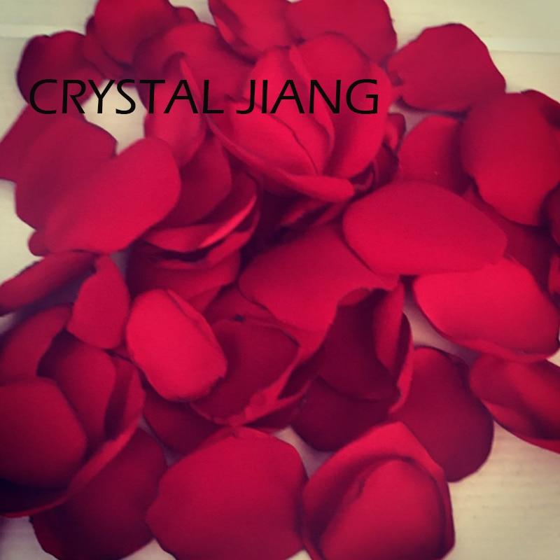Dark Red Petals For Weddings Soft Flower Girl Rose Petal 100 pieces /Lot