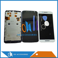 1PC LotFor Moto X3 XT1561 XT1562 XT1563 LCD Display Frame Touch Screen Digtizer Assembly Free Shipping