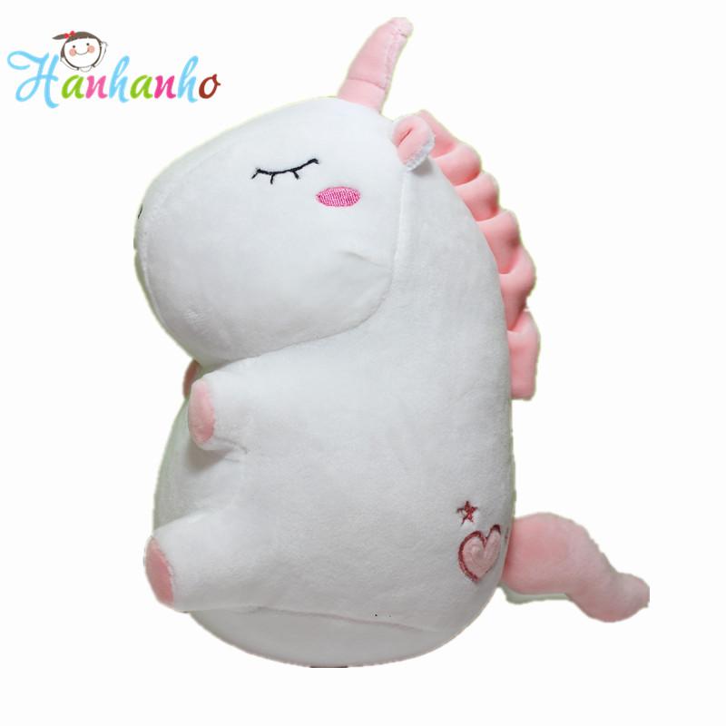 2018 New Arrival Lovely Unicorn Doll Baby Extremely Soft Plush Toy Children Horse Stuffed Animal Birthday Gift 25cm 50cm lovely super cute stuffed kid animal soft plush panda gift present doll toy