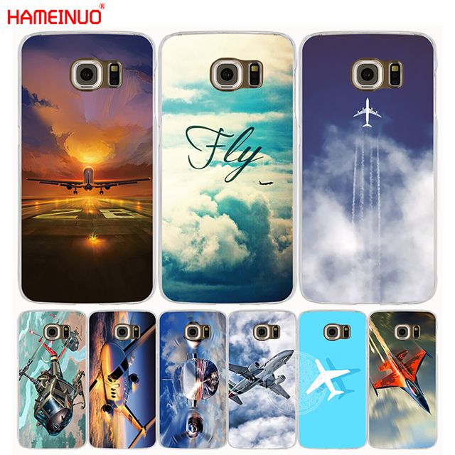 c8d291ae7 HAMEINUO aircraft air plane fly cell phone case cover for Samsung Galaxy S7  edge PLUS S8 S6 S5 S4 S3 MINI