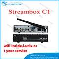 Caixa de tv a Cabo Cingapura streambox c1 C1 Fluxo de caixa, para canais HD wifi interno zcam servir