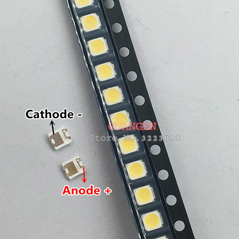 200pcs FOR SAMSUNG 2828 LED Backlight TT321A 1.5W-3W With Zener 3V 3228 2828 Cool White LCD Backlight For TV TV Application 3228