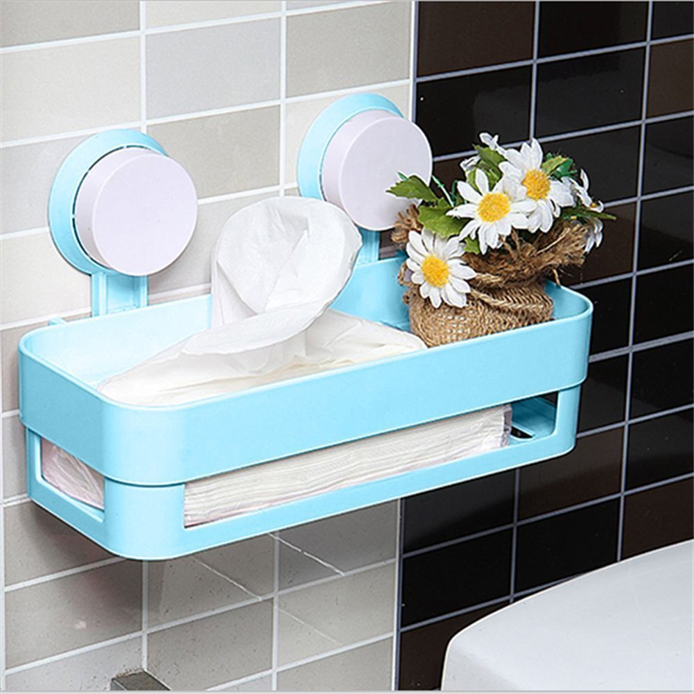 compare prices on shower caddy suction online shopping buy low jfbl kitchen bathroom shelf plastic shower caddy organizer holder tray with suction cups blue