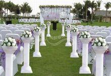 8pcs/lot wedding Plastic roman column plastic pillars stands props road leads flower rack
