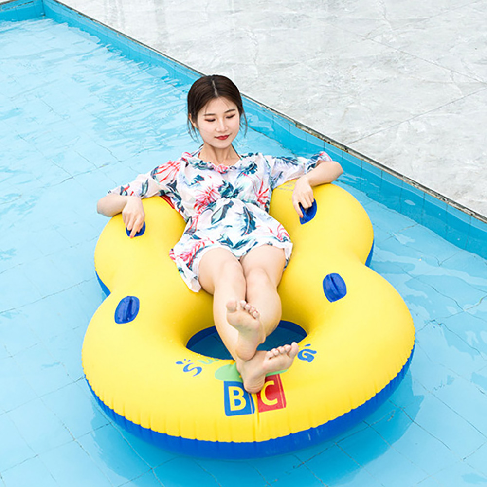 Double Circle Swimming Rings Inflatable Floating Row Summer Parent Child Toy Outdoor Toys For Children