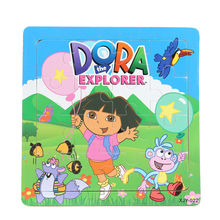3D Wooden paper Jigsaw Puzzles Toys for Children Masha and Bear Dora Kids  Baby Educational toys Puzzel