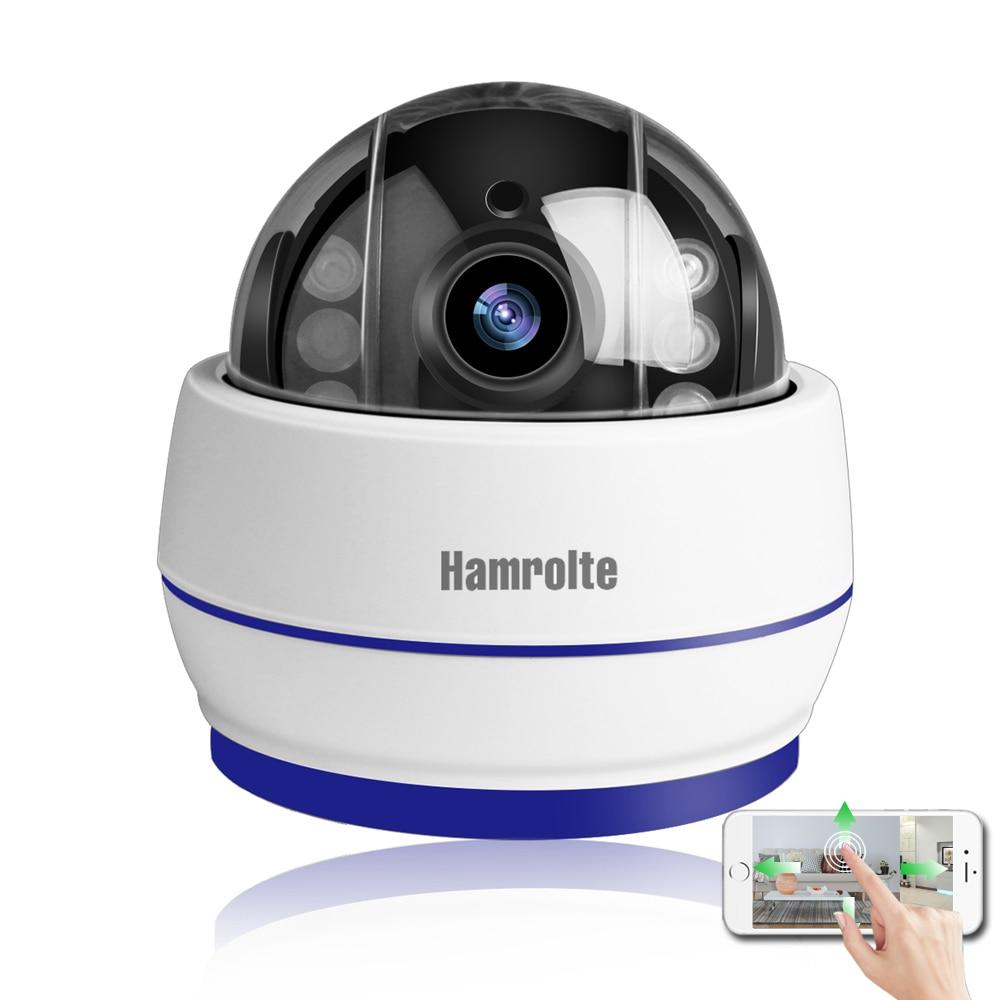 Hamrolte Wifi Caméra Vitesse Dôme Caméra 1080 p 960 p 5X Zoom Mise Au Point Automatique Intérieur PTZ IP Caméra SD Carte slot Enregistrement Audio Onvif CamHi