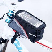 Для крепления мобильного телефона на велосипед телефонные чехлы 4,2/5,0/5,5 дюймов сенсорный экран Топ рамная трубка сумка для хранения Велоспорт MTB дорожный велик велосипед Roswheel 12496